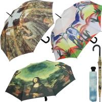 Schirme mit Künstlermotiven