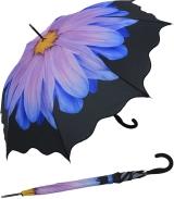 Damen Stockschirm Flower mit Auf-Automatik