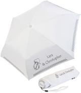 iX-brella Mini Hochzeits-Taschenschirm Herz und Anker mit...