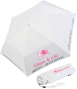iX-brella Mini Hochzeits-Taschenschirm Herzen mit...