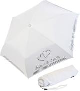 iX-brella Mini Hochzeits-Taschenschirm verbundene Herzen...