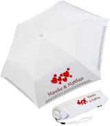 iX-brella Mini Hochzeits-Taschenschirm viele Herzen mit...