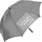 Ihr Aufdruck auf dem Regenschirm