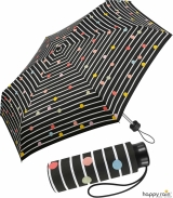 Regenschirm schwarz bedruckt - bikini dots & stripes...