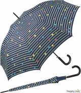 Regenschirm navy blau bedruckt - bikini dots &...