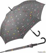 Regenschirm grau bedruckt - bikini dots & stripes -...