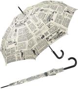 Regenschirm bedruckt - newspaper - Stockschirm Automatik