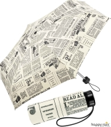 Regenschirm bedruckt - newspaper - Mini-Taschenschirm...