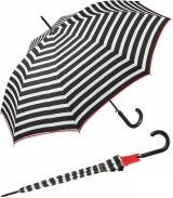 Regenschirm schwarz bedruckt - black & white stripes...