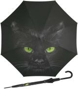 Regenschirm mit Auf-Automatik schwarz bedruckt - cat -...