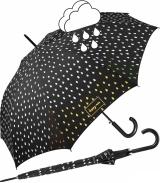 Regenschirm schwarz mit Farbwechsel bei Nässe - Rain...