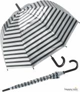 Glockenschirm Automatik Metallic Stripes - silber