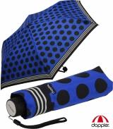 Doppler Mini Taschenschirm Havanna Mix-Up blau