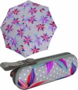 Knirps X1 Super Mini Taschenschirm im Etui UV Protection...