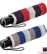Knirps Regenschirm Damen Taschenschirm Large Duomatic stripe