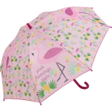 Kinder-Regenschirm Stockschirm Auf-Automatik Flamingo