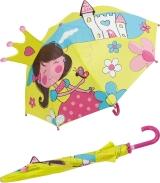 Kinder-Regenschirm Stockschirm Prinzessin und Schloss
