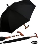 iX-brella Stützschirm mit Holzgriff -...