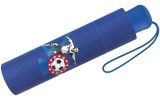 Scout Kinder-Taschenschirm mit reflektierendem Streifen Fussballstar