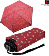 Knirps mini Taschenschirm Travel - flakes red