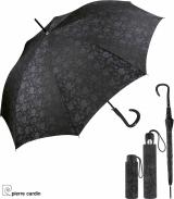 Pierre Cardin Regenschirm Brokat Deluxe Black Flower