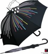 Knirps Damen Stockschirm Automatik colour change rainbow