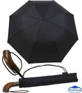 Golf Taschenschirm XXL Auf-Zu-Automatik Holz-Griff mit...