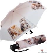 Taschenschirm Auf-Zu-Automatik UV-Protection Katzentrio