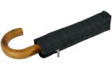 Knirps Taschenschirm Minimatic SL mit Holz-Rundhakengriff Mens Prints Check