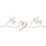iX-brella XXL Mr.&Mrs. Hochzeitsschirm Automatik -...