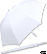 iX-brella XXL Mr.&Mrs. Hochzeitsschirm Automatik - Brautschirm All In White - Vogel-Pärchen