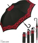 Pierre Cardin Regenschirm schwarz-rot