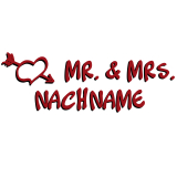 iX-brella XXL Mr.&Mrs. Hochzeitsschirm Automatik...