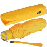 iX-brella Mini Ultra Light - Damen Taschenschirm mit großem Dach - extra leicht - neon gelb
