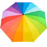 iX-brella full class XXL Damen Taschenschirm mit Auf-Zu-Automatik Regenbogen - 16 Farben