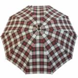 Doppler Manufaktur Herren Regenschirm Kastanie Schirm - Karo weiss rot grün