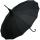 Regenschirm Sonnenschirm Long Pagode UV-Protection Charlotte schwarz