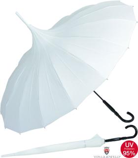 Regenschirm Pagode Cecile ecru - weiss