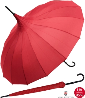 Regenschirm Pagode Cecile rot UV-Protection
