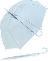 Regenschirm Glockenschirm durchsichtig transparent Borte...