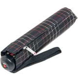 Knirps Regenschirm stabil Minimatic SL Automatik Karo schwarz 529