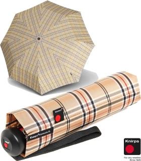 Knirps Regenschirm stabil Minimatic SL Automatik Karo beige 539