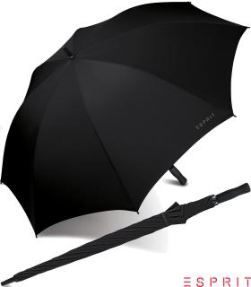 Esprit XXL Regenschirm Portierschirm Schirm Golf Manual black - schwarz