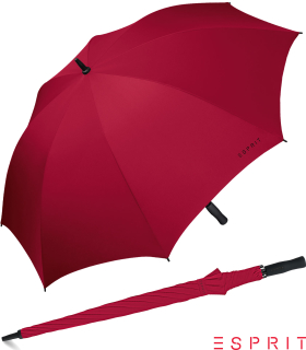 Esprit XXL Regenschirm Portierschirm Schirm Golf Manual flagred - rot
