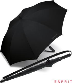 Esprit Regenschirm Umhängeschirm Schirm Slinger Automatik black - schwarz