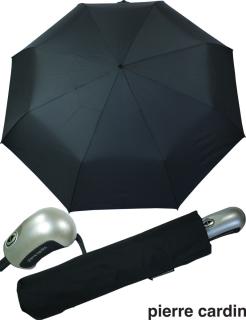 Pierre Cardin XL Regenschirm Auf-Zu Automatik Schirm gross -schwarz