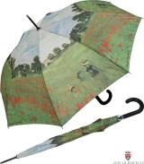 Regenschirm AC Schirm Long Claude Monet Mohnblumenfeld...