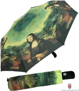 Taschenschirm Regenschirm Leonardo da Vinci - Mona Lisa UV - Protection