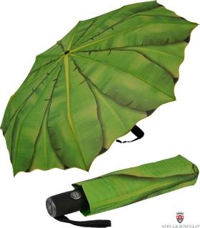 Taschenschirm Regenschirm Tropische Momente - Bananenblatt UV-Protection