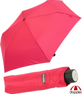 Doppler Regenschirm Mini- Taschenschirm Havanna Stick - sturmfest pink